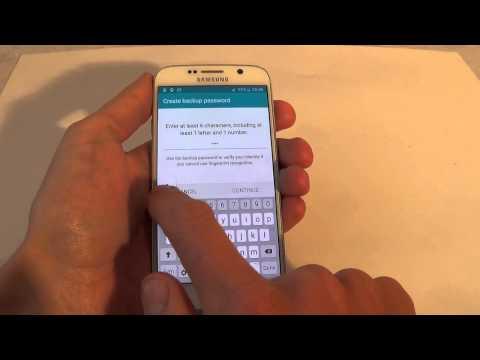 Samsung Galaxy S6 G920F - How to setup / remove fingerprint scan