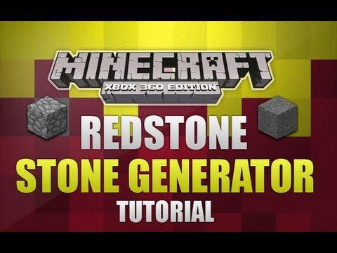 Minecraft Xbox 360 - Redstone Smooth Stone Generator *Tutorial*