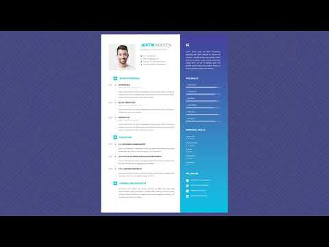 Free Professional Resume Template - Oceans Deep