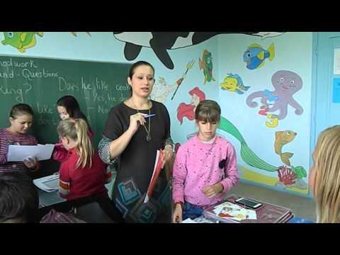 noisy classroom students doing a survey