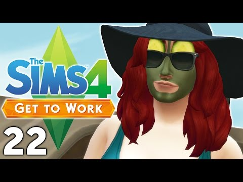 Let's Play The Sims 4 Get to Work - Part 22 - Spa Day!