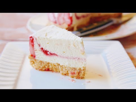 How To Make NO-BAKE STRAWBERRY CHEESECAKE || Yumeiro Patissiere