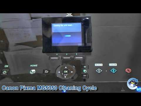 Canon Pixma MG5350: How to do Cleaning Cycle/Deep Cleaning