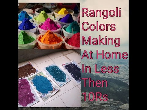 Rangoli Color Mixing Techniques, How To Make Rangoli Colors At home, Reuse Rangoli || Ladies Dunia