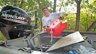 Installing NEW Mercury Motor on My Jon Boat ( Unboxing to Running )