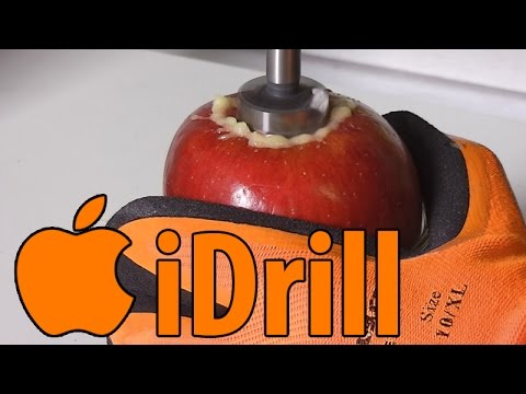 APPLE vs. DRILL PRESS | How to make pure apple juice