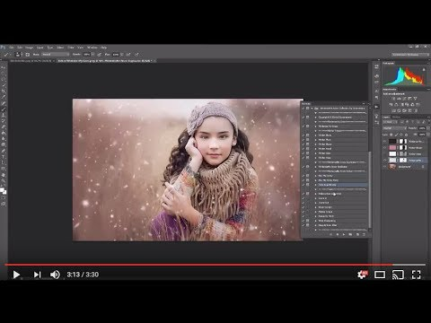 WinterizeMe Brush and Action Collection Preview and Tutorial for Photoshop and Photoshop Elements