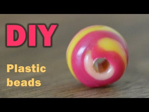 DIY: COLORFUL BEADS FROM PLASTIC BOTTLE TOPS