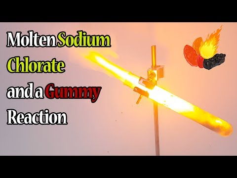 Screaming Gummy Bear Demonstration (Sodium Chlorate + Potassium Permanganate + Fruit Snack)