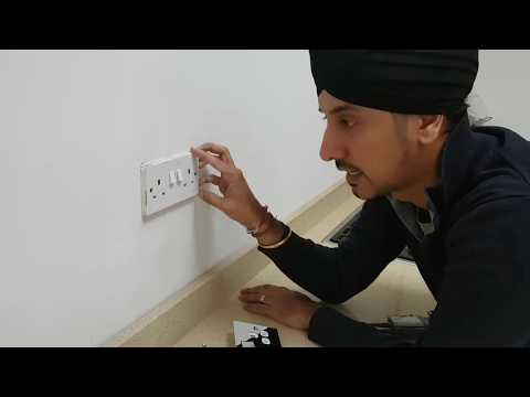 How to install a polished chrome flat double socket
