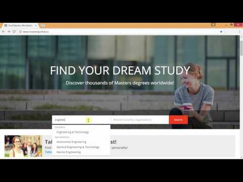 How students use Mastersportal to find university degree programmes