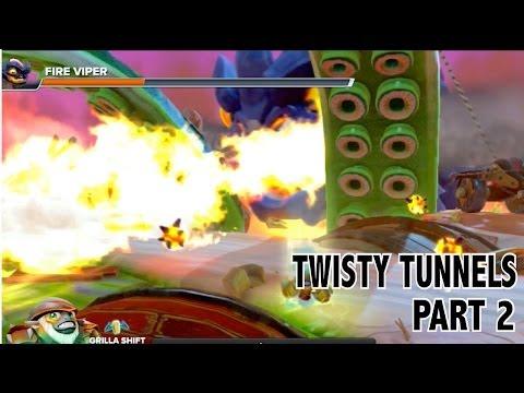 Let's Play - Skylanders Swap Force - Twisty Tunnels Part 2 with Fire Viper Boss Battle