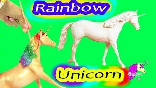 Custom Painting Rainbow Unicorn Breyer Classic Model Horse - Honeyheartsc Video
