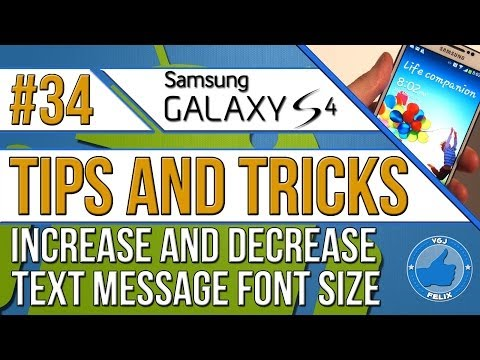 Samsung Galaxy S4 Tips and Tricks #34: How to Make Text Font Larger/Smaller