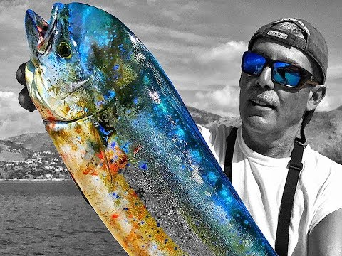 How to Fillet Fish... MahiMahi Dorado Dolphin fishing Greece