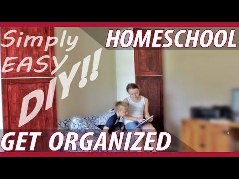 DIY Homeschool Storage Cabinets / Reading Nook