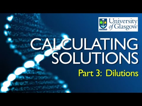 Preparing Solutions - Part 3: Dilutions from stock solutions