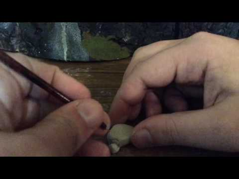 How to Carve Clay Rocks For Scenery