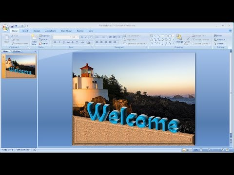 Powerpoint training |How to Create Your Own 3D Text in Powerpoint