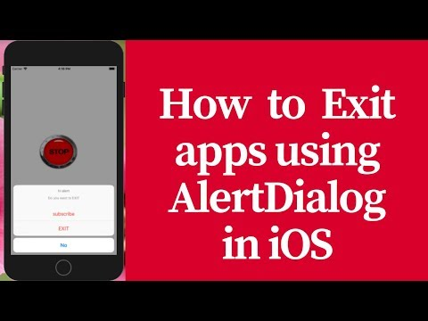 How to exit apps using alert dialog in ios