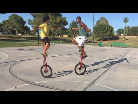 Nunchaku Fight Scene On Unicycle