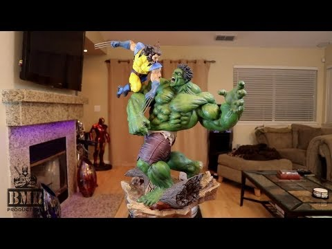 Custom heads for Sideshow's Hulk vs Wolverine Maquette