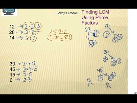 How to Find Least Common Multiple (LCM): Using Prime Factors