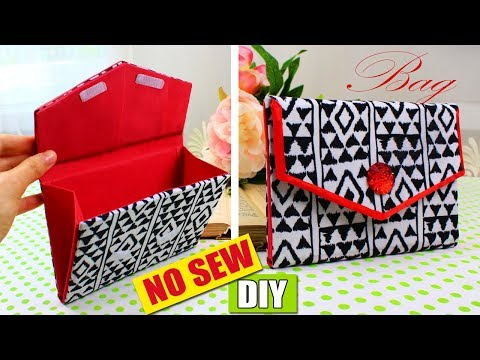 DIY PURSE BAG CLUTCH NO SEW TUTORIAL 🌺 Fashion Bag 🌺