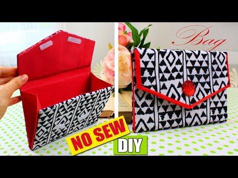 DIY PURSE BAG CLUTCH NO SEW TUTORIAL 🌺 Fashion Bag 🌺