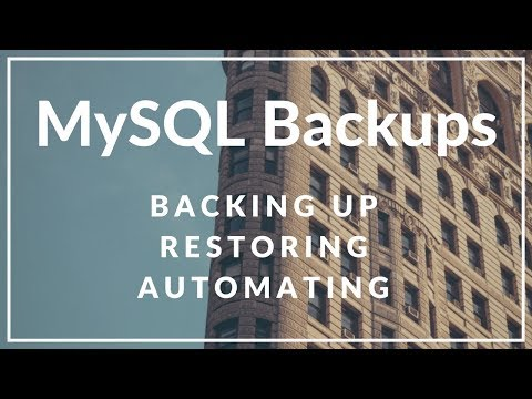 How to Backup and Restore a MySQL/MariaDB Database