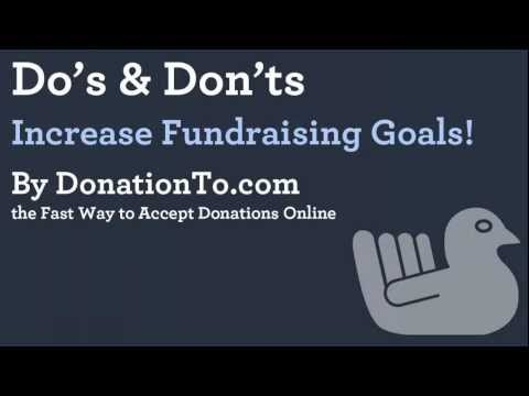 Fundraising Tips - Do's & Dont's | Online Donations | Online Charity | Online Giving