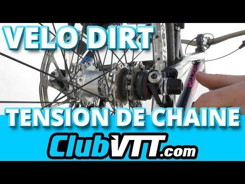 Vélo DIRT - Tuto tension de chaîne sur un DIRT !! - 517