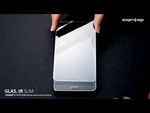 Installation video of SPIGEN SGP Premium Tempered Glass Screen Protector GLAS tR for Galaxy Note 3