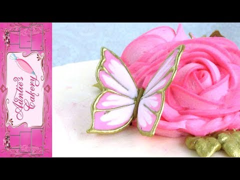 Pink Royal icing transfer butterfly tutorial