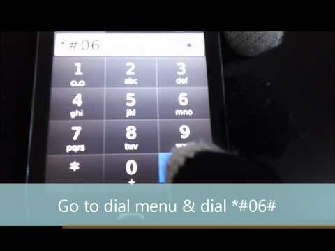 Check your phone IMEI tutorial - AT&T Blackberry Torch 9800