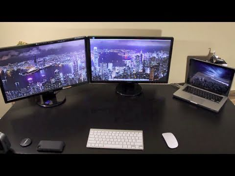 Two External Monitors on a MacBook Pro
