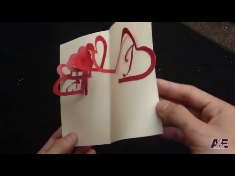 Linked Spiral Hearts - Valentine's Day Pop-up Card Tutorial   Free Pattern