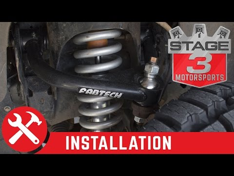 2009-2013 F150 4WD Fabtech Uniball Upper Control Arms Install