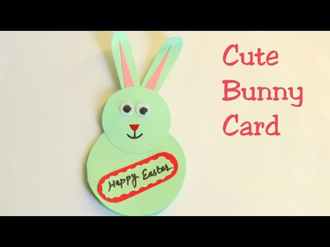 DIY Cute Bunny Card/Easter bunny card/Easter crafts for kids/Easter bunny making card/Cute card