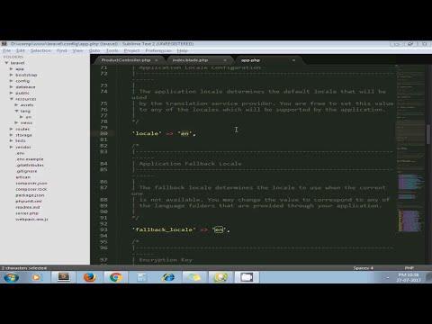 Create Multi Language Website In PHP Using Laravel Framework