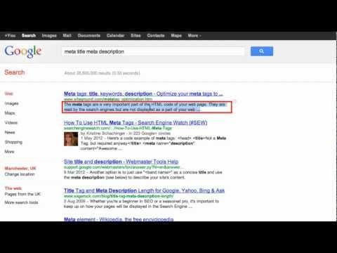 Create perfect Google meta tags (meta description & meta title)