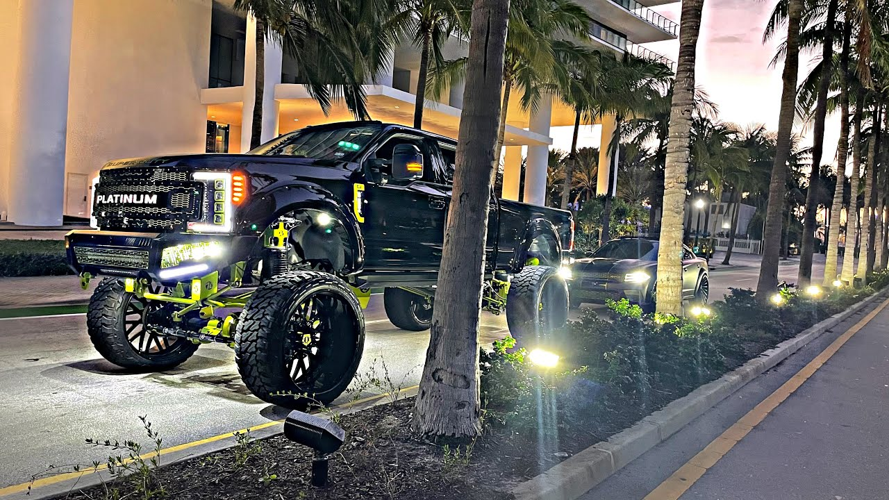 Finally took my truck and hellcat to Miami