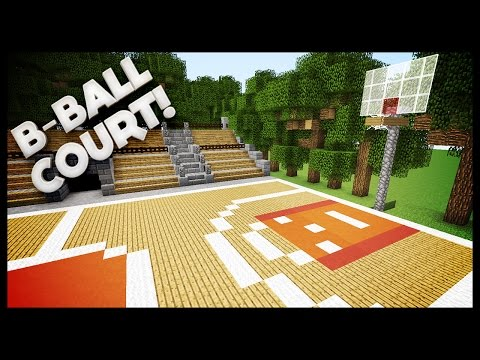 Minecraft - How To Build A Basketball Court