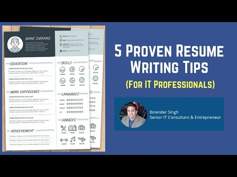 5 Proven Resume Writing Tips to Get Noticed in 10 Seconds Guaranteed