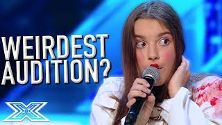 BIZARRE Audition CREEPS Out Contestants! | X Factor Global