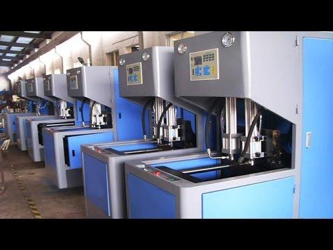 Mineral water oil bottles making machine blowing semi auto bouteilles d'eau machine de soufflage