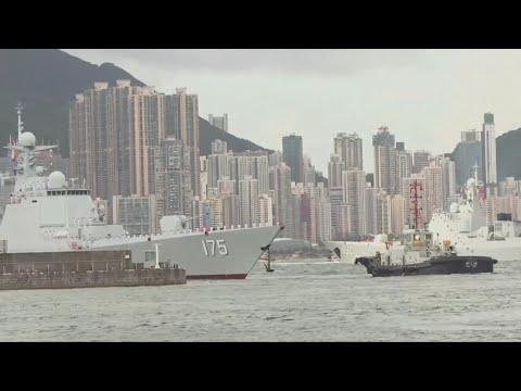China's first aircraft carrier visits Hong Kong