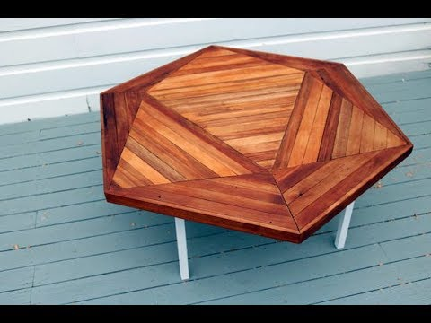 DIY Hexagonal Reclaimed Wood Coffee Table