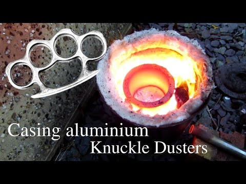 Casting metal knuckle dusters (lost foam method)