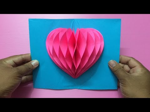 How to Make Heart Pop Up Card | Making Valentine's Day Pop-Up Cards Step by Step | DIY-Paper Crafts